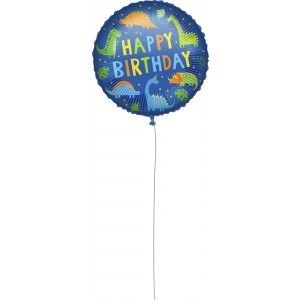 18 INCH AIR-HELIUM FOIL  BIRTHDAY  1CTP