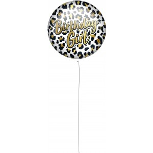 18 INCH AIR-HELIUM FOIL BIRTHDAY GIRLLEOPARD 1CTP