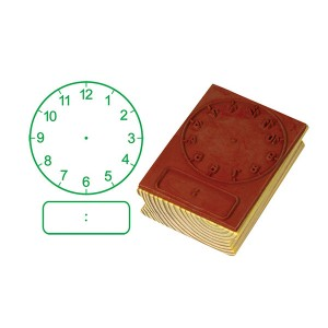 TFC-STAMP CLOCK DIGITAL/ANALOGUE HOURS (50MM) 1P