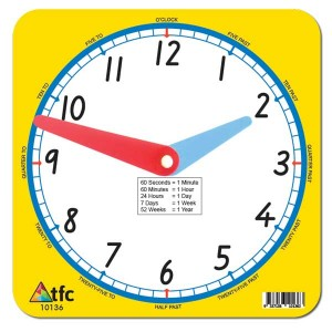 TFC-CLOCK 12HR TEACHER 1P