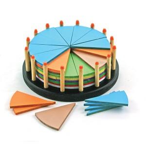 TFC-FRACTION BIRTHDAY CAKE ROUND 51P