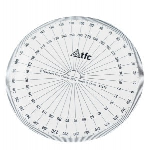 TFC-PROTRACTOR 360° STUDENT BASIC 1P