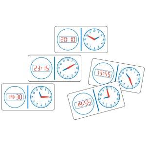 TFC-DOMINOES CLOCK ANALOGUE/DIGITAL 24HR  28P