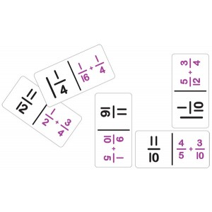 TFC-DOMINOES FRACTION ADDITION 28P