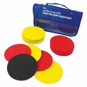TFC-COUNTERS 100MM TWO COLOUR MAGNETIC  20P
