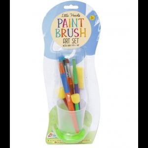 GRAFIX PAINT BRUSH ART SET WITH NON-SPILL CUP