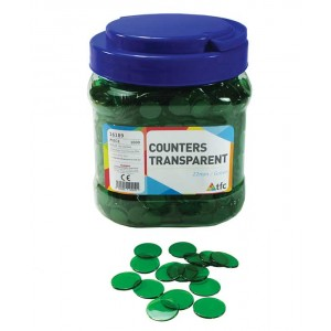 TFC-COUNTERS 22MM TRANSPARENT GREEN 1000P