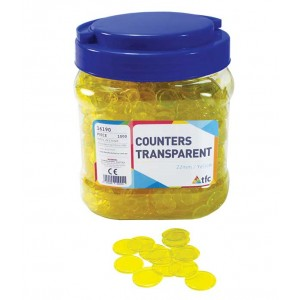 TFC-COUNTERS 22MM TRANSPARENT YELLOW 1000P