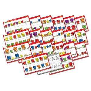 TFC-FAB FROGS ACTIVITY CARDS COLOUR PATTERNS 20P