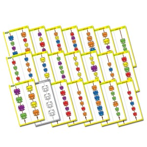 TFC-FAB FROGS ACTIVITY CARDS LACING PATTERNS 20P