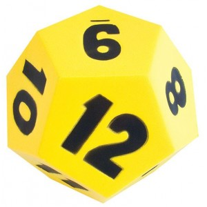 TFC-DICE 12 FACE 18CM MOULDED