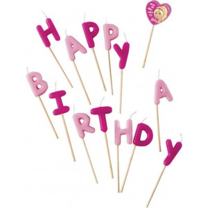 BARBIE SPARKLE-HAPPY BIRTHDAY TOOTHPICK CANDLE 1CT