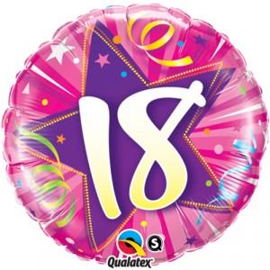 18 INCH FOIL AGE 18 SHIN ST H PINK RND 1CTP