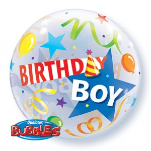 22 INCH SINGLE BUBBLE BDAY B P HAT 1CTP