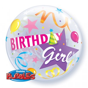 22 INCH SINGLE BUBBLE BDAY G P HAT 1CTP