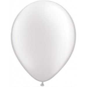 11 INCH LATEX PEARL WHITE 100CTP