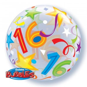 22 INCH SINGLE BUBBLE 16 BRILLIANT STARS 1CTP