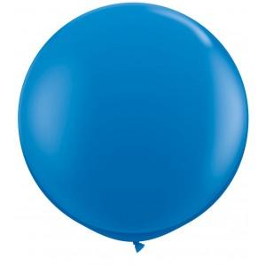 3 FT LATEX PLAIN RND DARK BLUE 2CTP