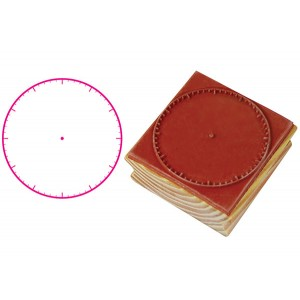 TFC-STAMP CLOCK ANALOGUE BLANK (50MM) 1P