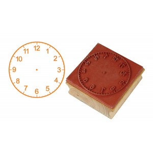 TFC-STAMP CLOCK 12 HOURS (50MM) 1P