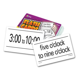 TFC-FLASH CARDS - ELAPSED TIME 55P