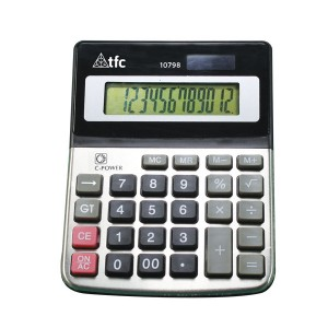 TFC-CALCULATOR 12 DIGIT 1P