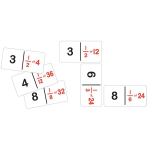 TFC-DOMINOES FRACTION NUMBER SET A 28P