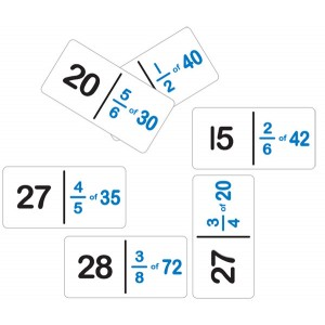 TFC-DOMINOES FRACTION NUMBER SET B 28P