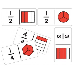 TFC-DOMINOES FRACTION BEGINNER 28P