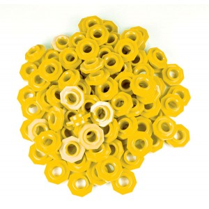 TFC-PLACE VALUE ABACUS BEADS - YELLOW 100P