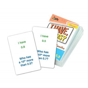 TFC-I HAVE; WHO HAS? - MORE/LESS TENTHS 36P
