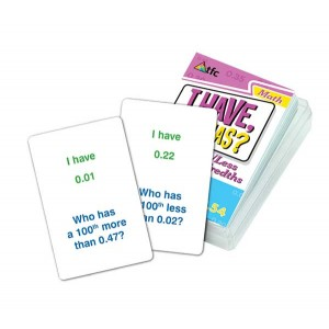 TFC-I HAVE; WHO HAS? - MORE/LESS HUNDREDTHS 36P