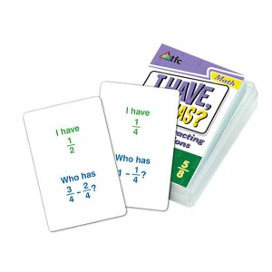 TFC-I HAVE; WHO HAS? - SUBTRACTING FRACTIONS 36P