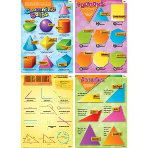 TFC-POSTER GEOMETRY (SET OF 4) 4P
