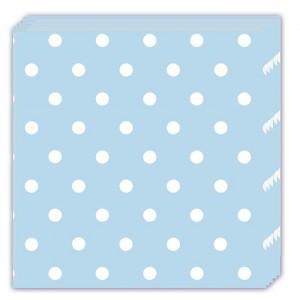 BLUE DOTS-THREE-PLY NAPKINS 33X33CM 20CT