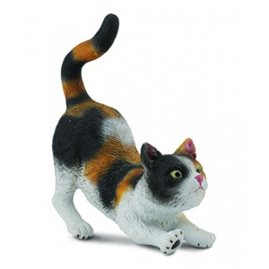 CATS&DOGS-3-COLOUR HOUSE CAT - STRETCHING-S
