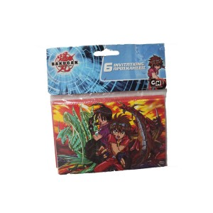 BAKUGAN INVITATIONS & ENVELOPES 6CT
