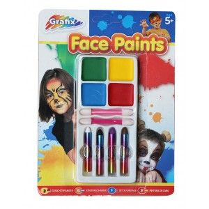 PARTY FACE PAINTS BLISTER PACK 1CT
