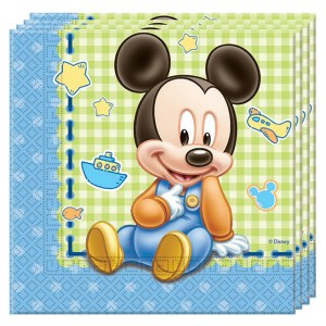 BABY MICKEY TWO PLY PAPER NAPKINS 33X33CM 20CT