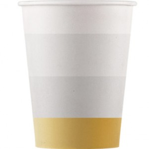 METALLIC PAPER CUPS 200ML 8CT