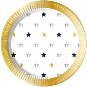 MILESTONE STARS  PAPER PLATES LARGE 23CM 8CT