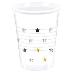 MILESTONE STARS  PLASTIC CUPS 200ML 8CT