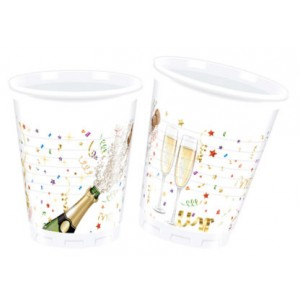 SPRKLING CELEBRATION PLASTIC CUPS 200ML 8CT
