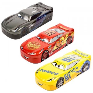 CARS 3-3D PENCIL BOX ASST