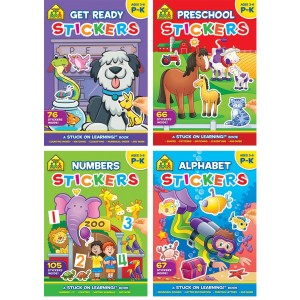 ACTIVITY BOOK GET READY-STICKER BOOKS(4 ASSORTED)