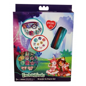 ENCHANTIMALS-3 BRACELETS WITH 18 CHARMS