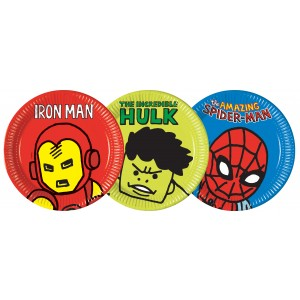AVENGERS TEAM POWER PAPER PLATES LARGE 23CM 8CT