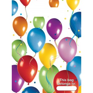 BALLOONS FIESTA PARTY BAGS 6CT