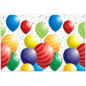 BALLOONS CELEBRATION PLASTIC TABLECOVER  1CT