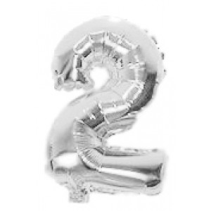 AIR FILLED 31 CM SILVER FOIL BALLOON 2 1CT